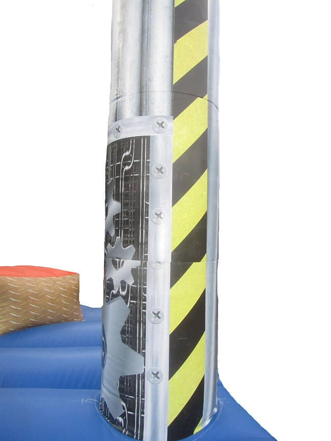 Inflatable Wrecking Wall Leg with Detailed Digitally Printed Artwork